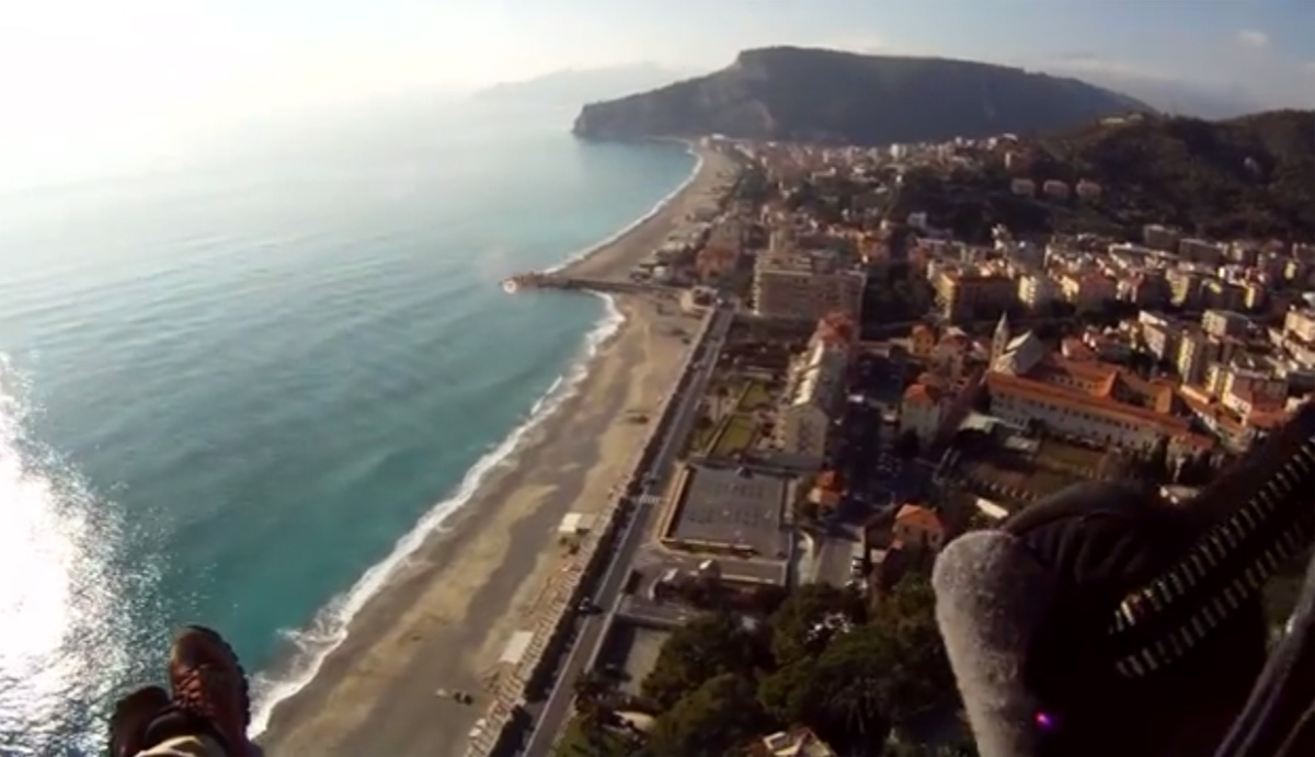 Paragliding over Finale Ligure