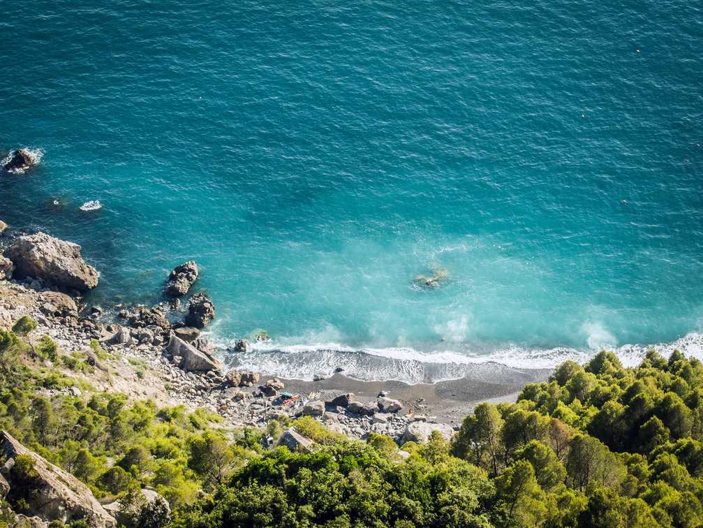 Punta Corvo, spiaggia