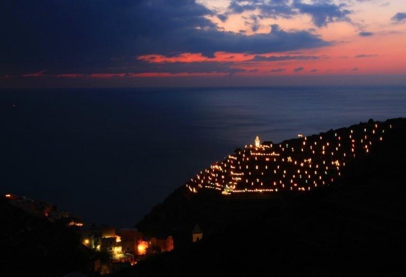 Presepe di Manarola - tramonto