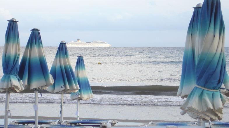 La spiaggia di Diano Marina