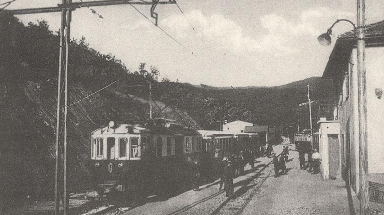 Primo treno a Casella nel 1929