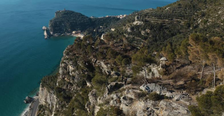Panorama lungo il trekking della Passeggiata Dantesca