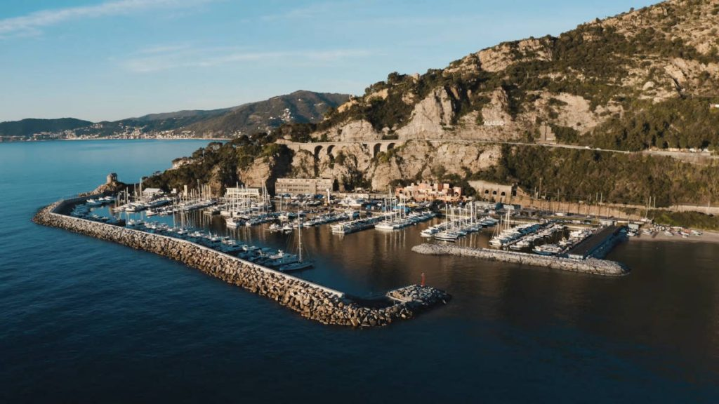 the harbour of Alassio
