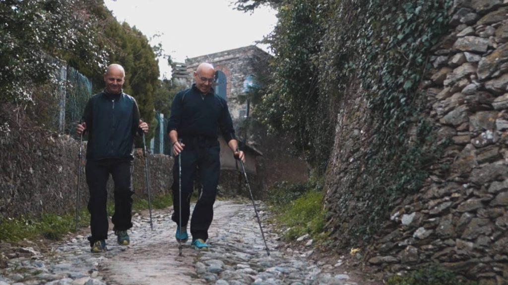 Trekking in Alssio, our guide Giorgio and Cesare