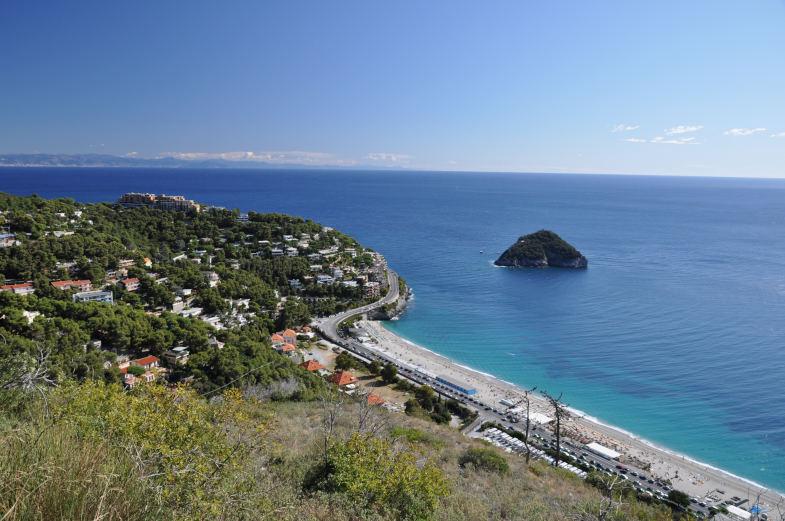 Panorama su isola di Bergeggi