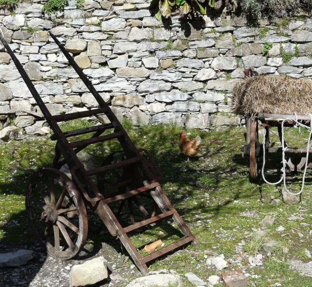 Attrezzi agricoli, presepe di Pentema